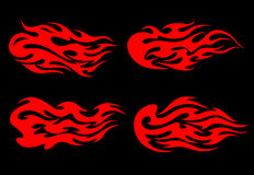 Fire flames tattoo. Set of fire flames in tribal style for tattoo design Royalty Free Stock Photos