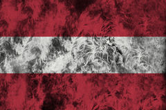 Fire flames texture or background with blending  Austria flag Stock Photo