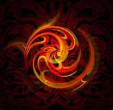 Fire flames. Vector illustration with decorative fire flames. EPS-10 Royalty Free Stock Photos