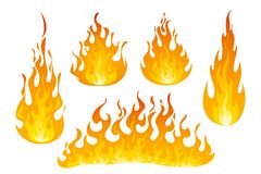 Free Fire Flames Vector Set Stock Photos - 125511043