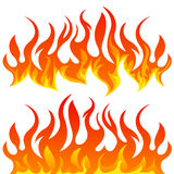 Fire flames vector set. On white background Royalty Free Stock Photos