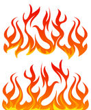 Fire flames vector set. On white background Royalty Free Stock Photo