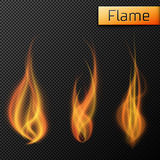 Fire flames vectors on transparent background. Vector illustration, EPS 10 Stock Photo