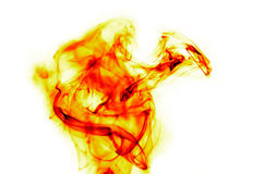 Fire flames on white Royalty Free Stock Images