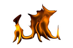 Fire flames on a white background Royalty Free Stock Photo