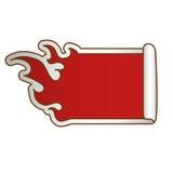 Fire flames white emblem icon image. Illustration design Stock Photography