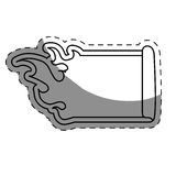 Fire flames white emblem icon image. Illustration design Royalty Free Stock Photography