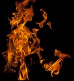 Fire flaming. Beautiful fire flaming inside of fireplace Royalty Free Stock Photos