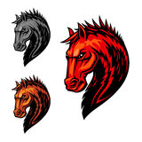 Fire flaming horse symbol for equestrian sport Stock Photography