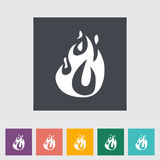 Fire flat icon. Fire elements. Single flat icon. Vector illustration Royalty Free Stock Photography