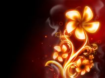 Fire Flower. Excellent fire flower on red background Royalty Free Stock Photography