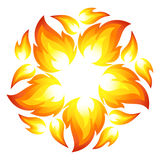Fire flower. Symbol. Vector-Illustration Royalty Free Stock Photo