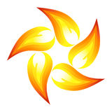 Fire flower. Symbol. Vector-Illustration Royalty Free Stock Photography