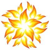 Fire flower. Symbol. Vector-Illustration Stock Photos