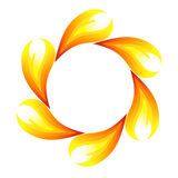 Fire flower. Symbol. Vector-Illustration Royalty Free Stock Image