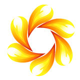 Fire flower. Symbol. Vector-Illustration Royalty Free Stock Images