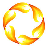 Fire flower. Symbol. Vector-Illustration Royalty Free Stock Photos