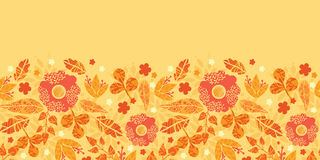 Fire flowers horizontal seamless pattern Stock Photos