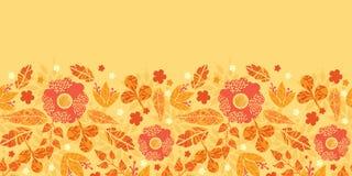 Fire flowers horizontal seamless pattern Stock Photos