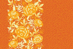 Fire flowers and leaves vertical seamless pattern Royalty Free Stock Image