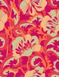 Fire flowers - seamless pattern. Floral seamless pattern with styled flowers Stock Photos