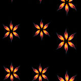 Fire flowers seamless pattern Stock Photos