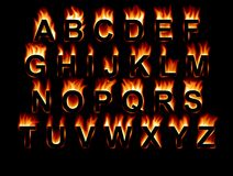 Fire Font Stock Image
