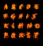 Fire font collection Royalty Free Stock Image