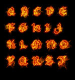 Fire font collection Stock Image