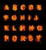 Fire font collection. Ideal for holiday, vintage or industrial designs Royalty Free Stock Photo