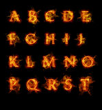 Fire font collection. Ideal for holiday, vintage or industrial designs Stock Images