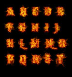 Fire font collection. Ideal for holiday, vintage or industrial designs Stock Photography