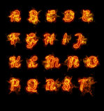 Fire font collection. Ideal for holiday, vintage or industrial designs Royalty Free Stock Image