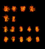 Fire font collection Royalty Free Stock Photo