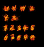 Fire font collection Stock Images