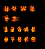 Fire font collection Stock Photo
