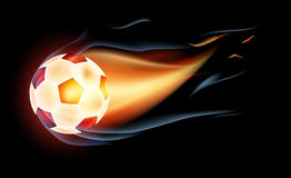 Fire football. Dynamic illustration great for web or print Stock Photo
