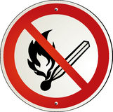 fire forbidden Royalty Free Stock Photography