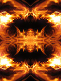 Fire fractal Stock Image