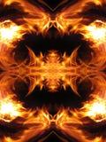 Fire fractal Stock Image
