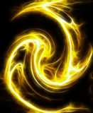 Fire fractal illustration Stock Photo