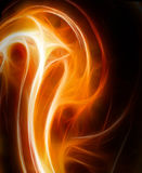 Fire fractal illustration Royalty Free Stock Photography
