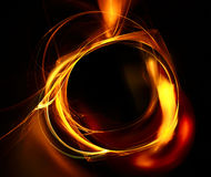 Fire frame. Abstract fire frame on a black background Stock Images