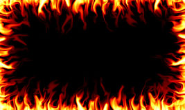 Fire Frame. Frame made out of tongues of fire over a black background Royalty Free Stock Photos