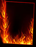 Fire frame. Vector of fire frame on black background Stock Photo