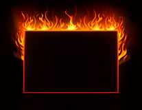 Fire frame. Vector 10eps background Stock Photo