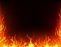 Fire frame. Frame of fire flame background Royalty Free Stock Photography