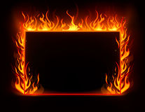 Fire frame. Vector background of fire frame Royalty Free Stock Photo