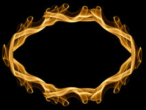Fire frame. Isolated on black Royalty Free Stock Photos