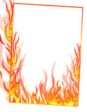 Fire frame. Vector of abstract fire frame Royalty Free Stock Images